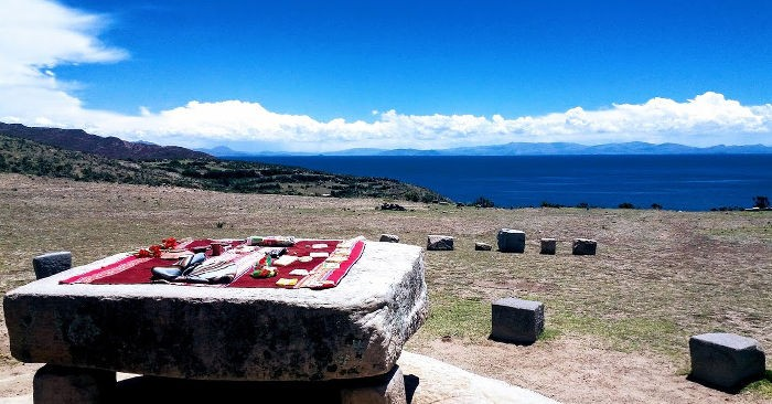 Au bord du lac Titicaca, côté bolivien