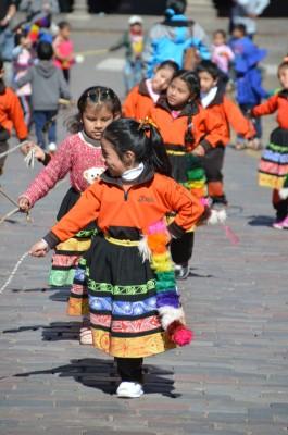 Repetition sur la place d'armes de Cusco pour la fete du soleil