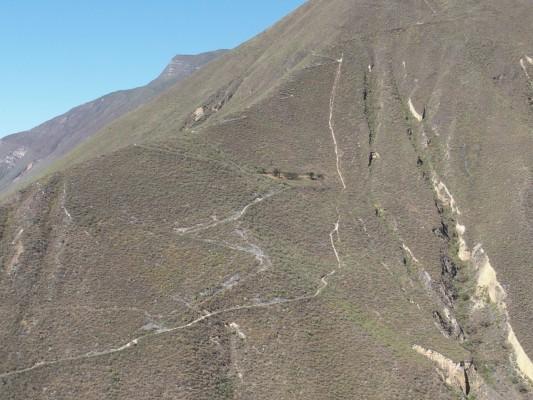 Vue du téléphérique pour Kuélap (Chachapoyas)