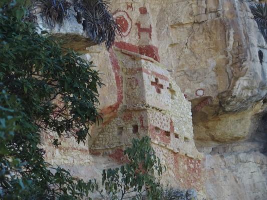 Tombes creusées dans la montagne à Revash (Leymebamba)